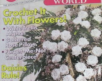 Crochet World back issue magazine February  2006 used