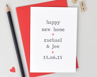 Happy New Home Personalised Card - Happy First Home - Moving Home Card - Congratulations Card