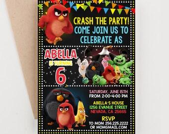 Angry Bird Invitation, Angry Bird Birthday, Angry Bird Birthday Invitation, Angry Bird Party, Angry Bird Printable Invitation Party for Boys