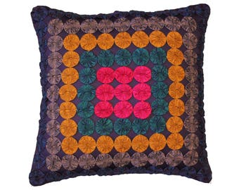 Colorful Small Pieces Cushion Cover