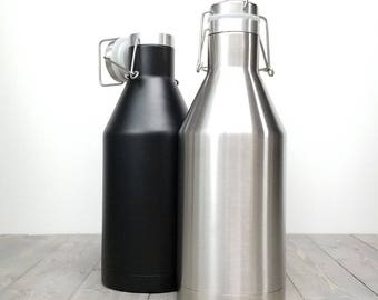Custom / personalized Insulated  Beer Growler 64oz