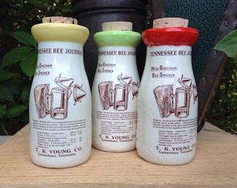 Milk Bottle decor, Handmade Milk Bottle, Smoker Milk Bottle, Tennessee Milk Bottle, Ceramic Honey Bottle, Ceramic Cork Jar