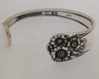 Spoon Bracelet. Cuff Bracelet. APRIL Spoon Jewelry. Silverware Jewelry. Silver Bracelet.