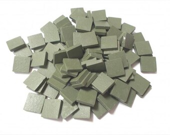 Mosaic Sheet, 75 Tiles. Pesto Green porcelain Great tiles very easy to use and cut.