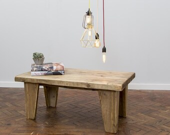 VIOR - Handmade Reclaimed Wood Coffee Table. Custom Made To Order.