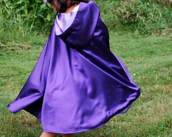 Girls Cape, Purple Pansy