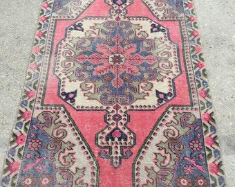 6.9x4.1 feet 212x124 cm, TRIBAL RUG, Vintage Turkish Rug,Bohemian Carpet Rug, Turkish Ethnic Rug, Oushak Anatolian Carpet Rug,Anatolian Rug,