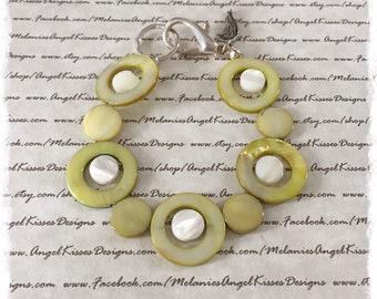 Summer Shell Bracelet- Olive