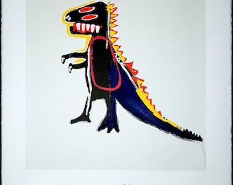 JEAN-MICHEL BASQUIAT - 'Pez...' - original lithograph on Arches paper - c1997 - rare (Basquiat Estate/Enrico Navarra Gallery, Paris)