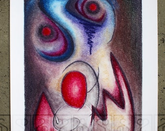 activeSlacker Arts, 'Insomniclown' , Signed A3 Giclee Reproduction Print