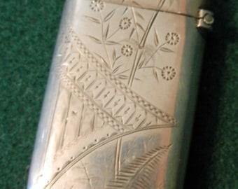 Sterling Match Safe Antique SALE