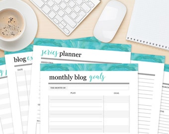 Blog Planning Printables, Print Your Own Business Worksheets, Printable Planner