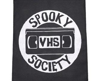 Spooky VHS Society Cloth Large Back Patch
