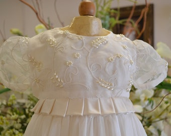 Christening Gown, Christening dress, Baptism gown, Baptism Dress, Heirloom Gown, Dedication Gown, Naming Ceremony, Girls 3-6 months