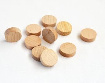 Wood Dots//Wood disk shapes//25mm wood dots//round wood disks//wood circle shapes - 10 pack