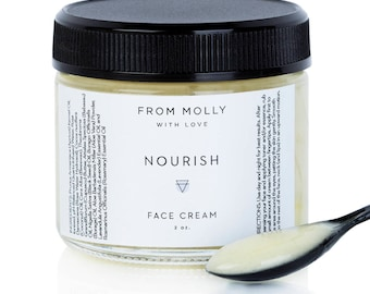 NOURISH Face Cream | Whipped Face Cream | Face Moisturizer | Natural Face Cream | Moisturizer for Face | Whipped Body Butter | Gift for Her