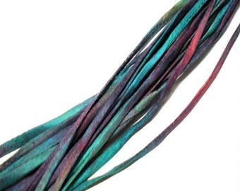 """5PC. MASQUERADE 2MM Hand Dyed Silk Jewelry Cord//5PC Hand Dyed Silk Cording 1/8"""" X 36""""//Hand Dyed Silk Jewelry Bracelet/Necklace Cording"""