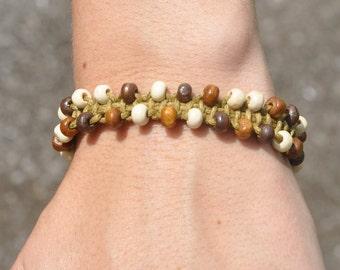 natural woven ladder bracelet
