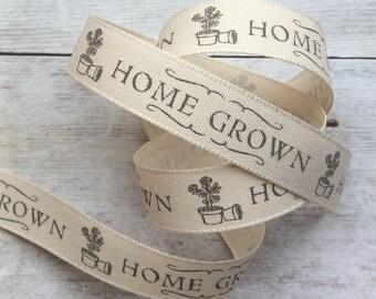 Home Grown Gardening Theme Ribbon