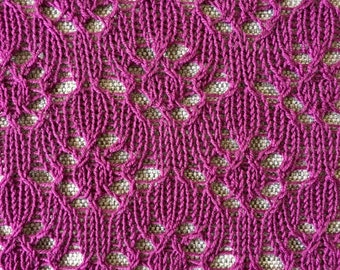 Simple lace scarf knitting pattern