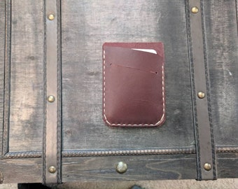 Leather Card Wallet, Leather Card Holder