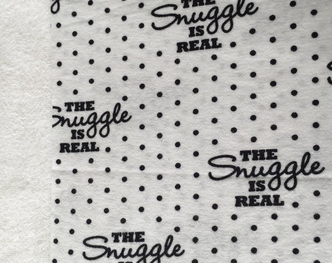 three pack the snuggle is real burp cloths