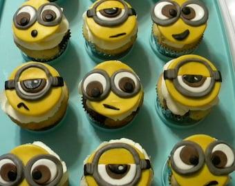 Minions Fondant Cupcake Toppers