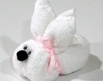 Sleepy Bunny Origami - Face Cloth Towel