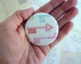 Pocket Mirror - Colourful Keys