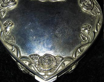 Vintage Heart Shaped Jewelry/Trinket Box