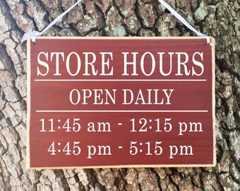 Business Store Hours 10x8 (Choose Color) Salon Spa Store Office Room Custom Rustic Shabby Chic Handmade Wood Door Sign