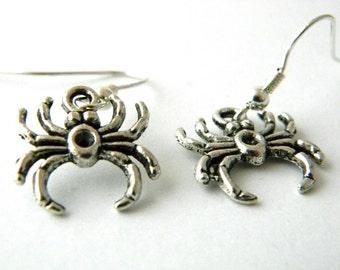 Spider Earrings Silver Color Dangle Earrings