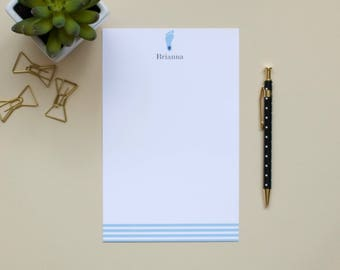 Personalized Notepad /UNC Notepad / Tarheel Notepad / Monogram Notepad / Name Notepad