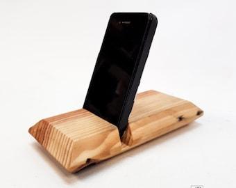 support smartphone et tablette en bois de palette
