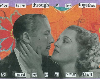 Your Fault Greeting Card