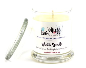 Winter Sparkle - Scented Candles, Soy Candle, Handmade Candles, Scented Candle, Aromatherapy Candles, Winter Candle, Spruce Candle, Plum