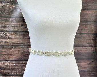 OLIVIA Wedding Belt, Bridal Belt, Wedding Sash, Bridal Sash, Crystal Rhinestone Belt, Wedding Dress Sash Belt, Jeweled Beaded Belt
