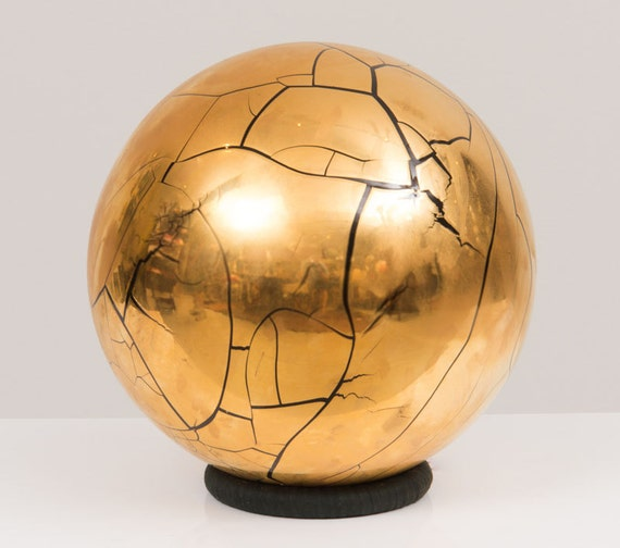 Ceramic sculpture Globe by Larry Lubow