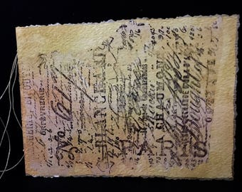 """Decoupaged Covered, Hand-Bound, Blank Watercolor Paper Journal 4""""x 6"""""""