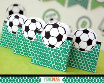 Soccer Birthday Favor Box - Soccer Party Favor Box - Soccer Favors - Soccer Decorations - Soccer Favor Box Template (Instant Download)