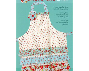 "Pattern ""Chore Girl"" Apron Paper Pattern, Instruction Booklet by Cabbage Rose (CAR173-CGA)"
