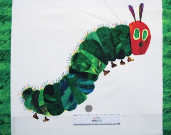 "VERY HUNGRY CATERPILLAR 22"" Panel Caterpiller & Butterfly 2015 Multi Color Cotton Quilt Fabric"