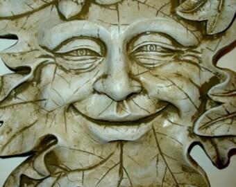 Acorn Leafman Face Mythical Wall Decor Greenman Sculpture NEW