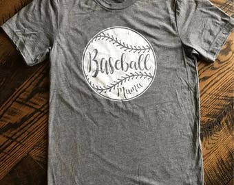 READY to SHIP! Baseball Mama Baseball Mom Super Soft Comfy Adult Unisex T-shirt Little League to the Major League! Small - XXL