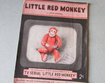 1953 Little Red Monkey original sheet music, Jack Jordan