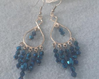 Blue Chandelier earrings  Free shipping!