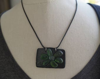 Chalkboard flower collection necklace