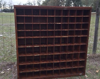 Post Office Cabinet, wood cabinet, mail slot ,apothecary cabinet, mail box, wine holder,90 mail slots, antique post office mail slot cabinet