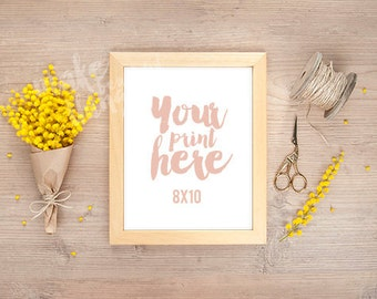 8x10 wooden frame / Styled stock photography / Instant download /