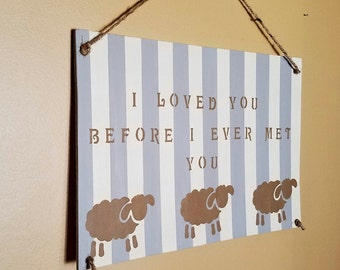 Sheep Nursery Decor, Rustic Boho Nursery, Gender Neutral Nursery, Rustic Nursery Decor, Sheep Nursery, Baby shower gift, Nursery Sheep
